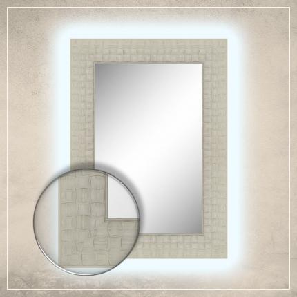 LED taustavalgusega peegel Leevi valge raamiga