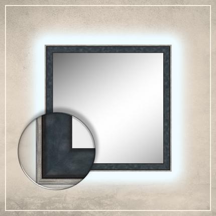 LED taustavalgusega peegel Fredi tumesinise raamiga