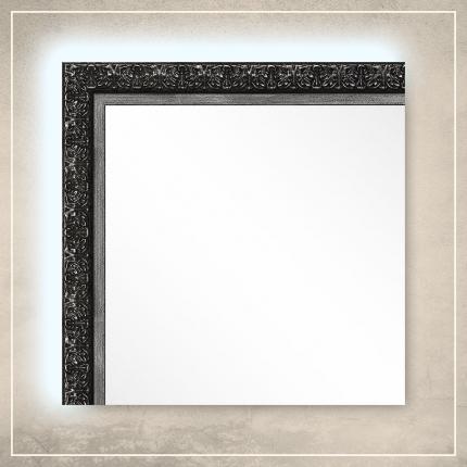 LED taustavalgusega peegel Klaus musta raamiga
