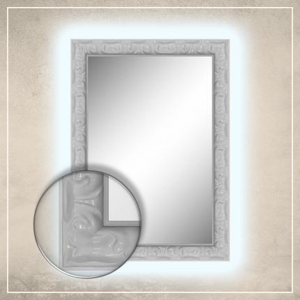 LED taustavalgusega peegel Elora valge raamiga
