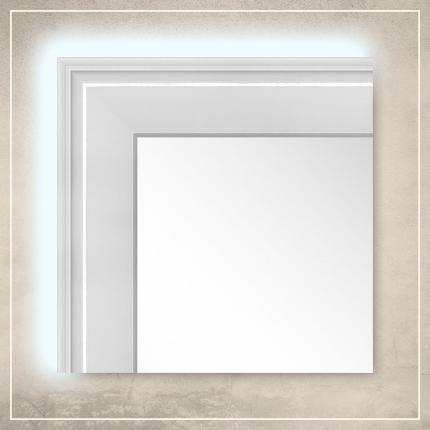 LED taustavalgusega peegel Orion valge raamiga