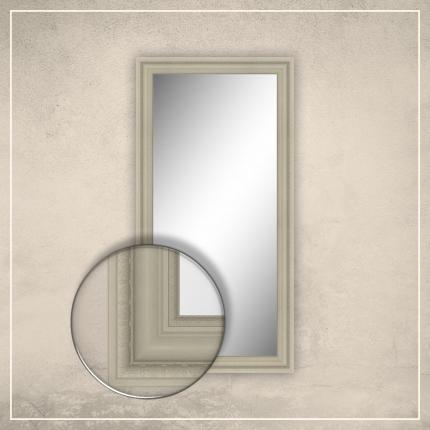 Peegel Clara kreemjas valge raamiga