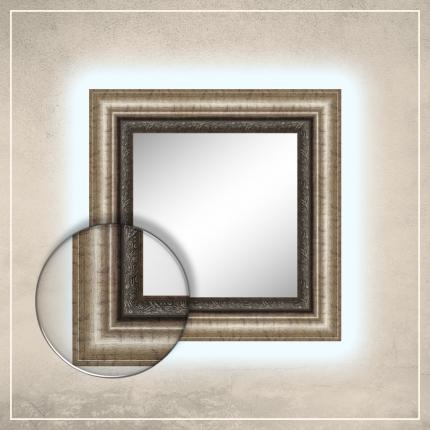 LED taustavalgusega peegel Alexa pronksi raamiga