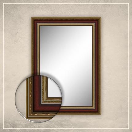 Peegel Lucas kuldse/punase raamiga