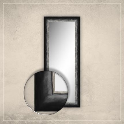 Peegel Canva musta raamiga