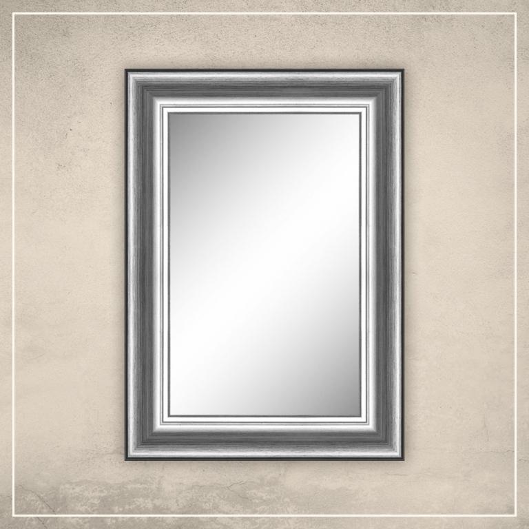 Peegel Carol hõbedase/musta raamiga