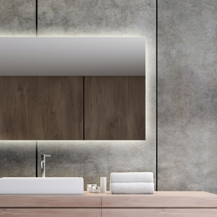 LED taustavalgusega peegel Isabella (raamita)