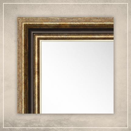 Peegel Nevin kuldse/pruuni raamiga