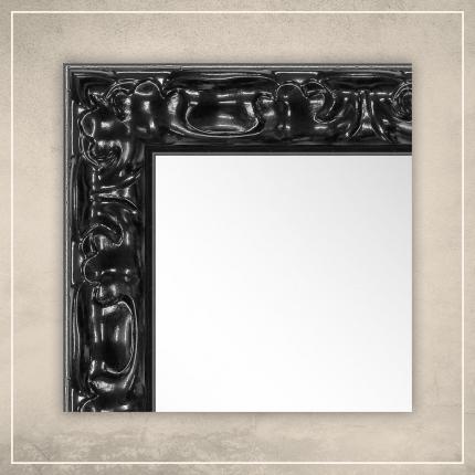 Peegel Elora musta raamiga