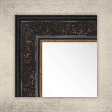 Peegel Erin musta raamiga
