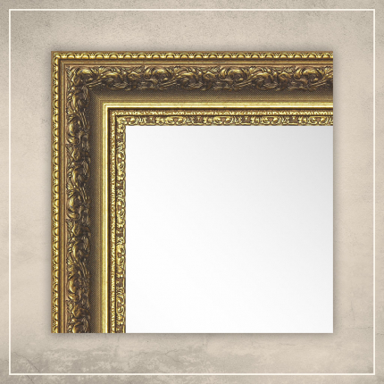 Peegel Amara kuldse raamiga