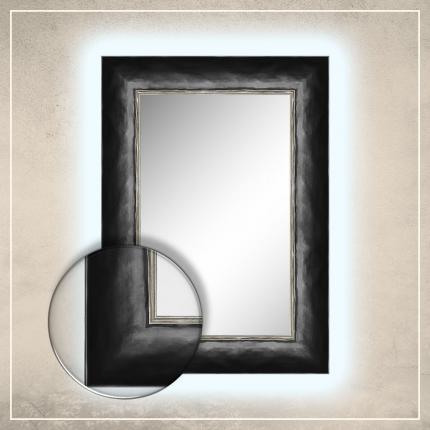 LED taustavalgusega peegel Canva musta raamiga