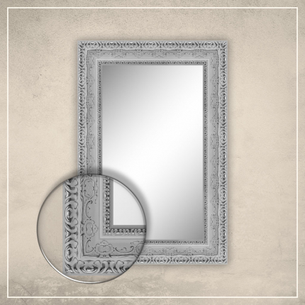 Peegel Julius valge raamiga