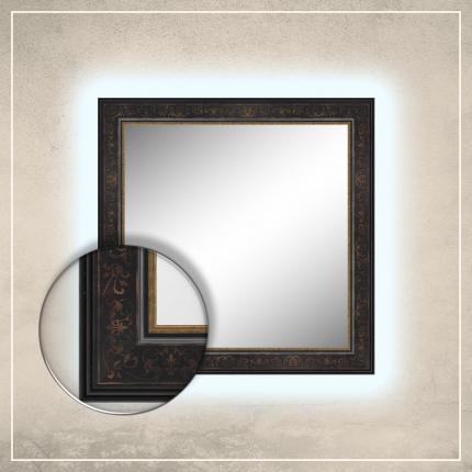 LED taustavalgusega peegel Erin musta raamiga