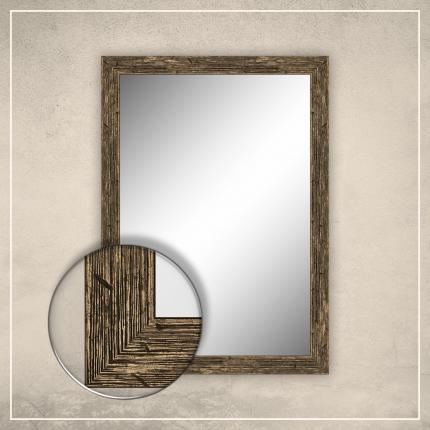 Peegel Nora musta/kuldse raamiga