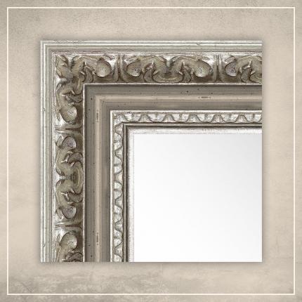 Peegel Rooma hõbedase raamiga