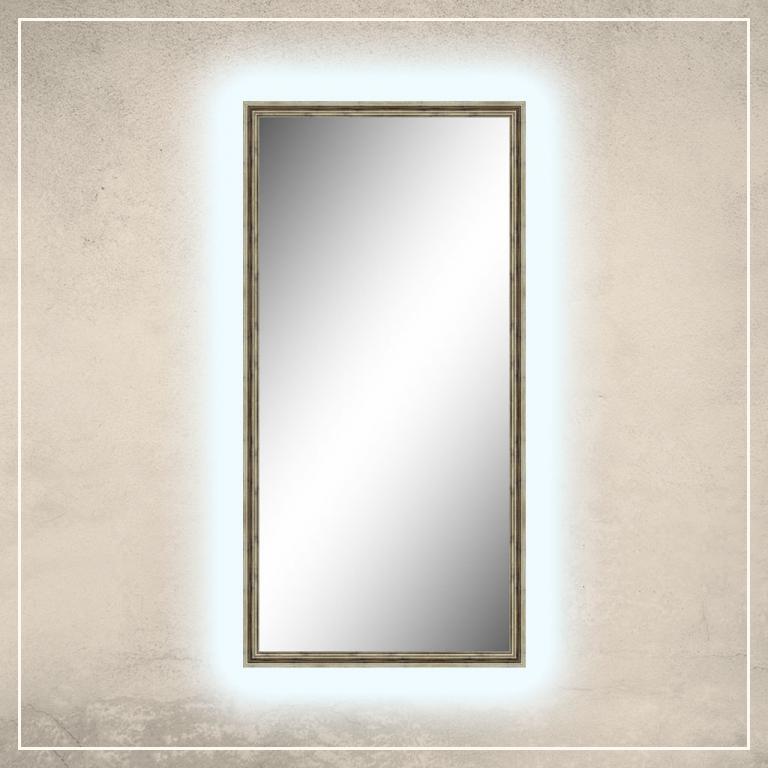 LED taustavalgusega peegel Elena šampanja tooni raamiga