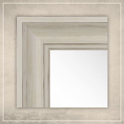 Peegel Lilia valge raamiga