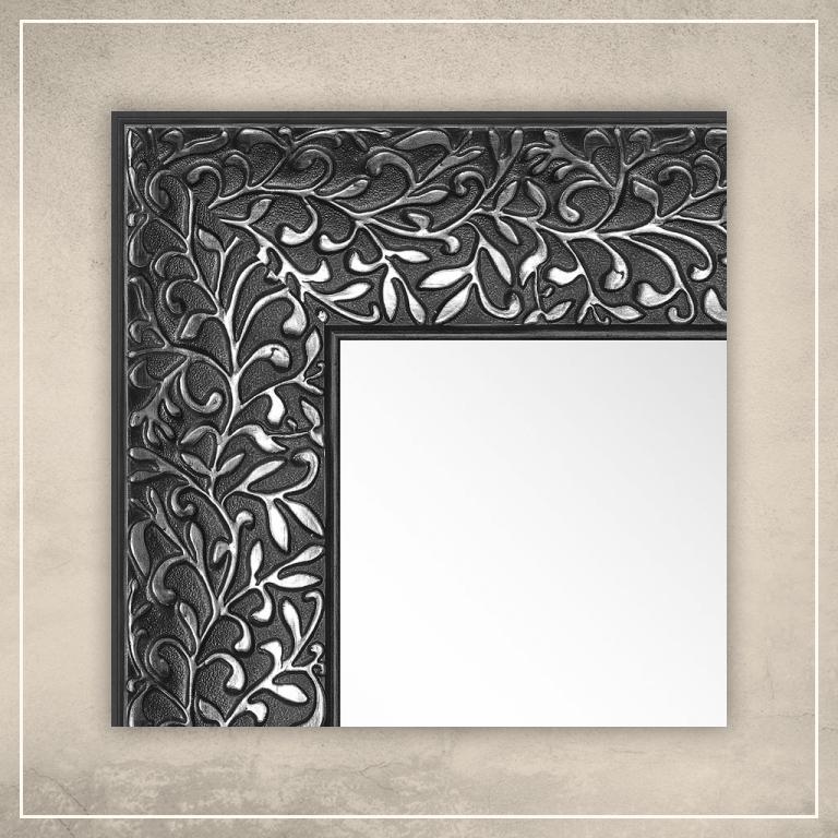 Peegel Jenny musta/hõbedase raamiga