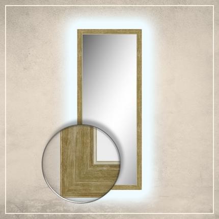 LED taustavalgusega peegel Liam kuldse raamiga