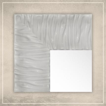 Peegel Eva valge raamiga