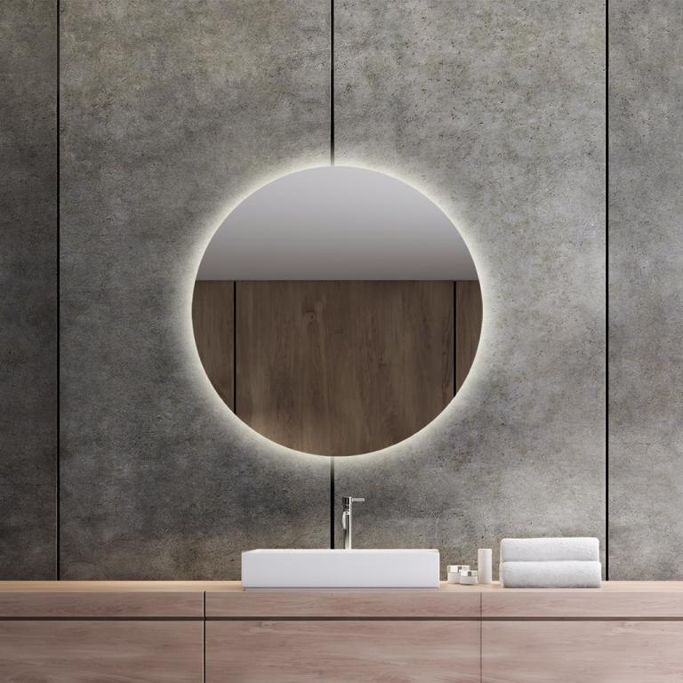 LED valgusega ümmargune peegel Brenda (D=70cm)