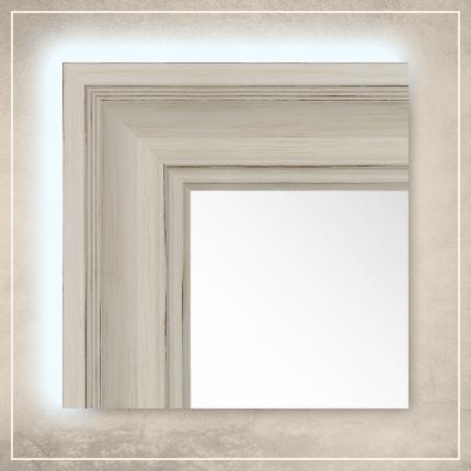 LED taustavalgusega peegel Lilia valge raamiga