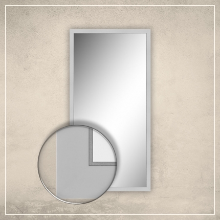 Peegel Liam valge raamiga