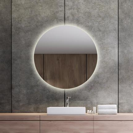 LED valgusega ümmargune peegel Brenda (D=80cm)