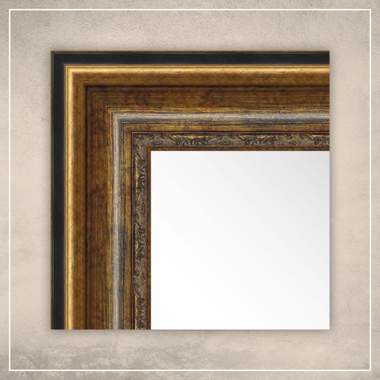 Peegel Foster musta/kuldse raamiga