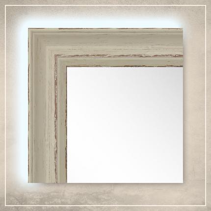 LED taustavalgusega peegel Toni valge raamiga
