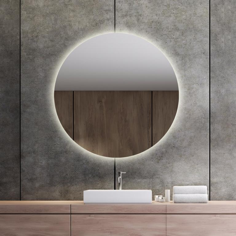 LED valgusega ümmargune peegel Brenda (D=90cm)
