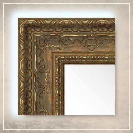 LED taustavalgusega peegel Julius kuldse raamiga