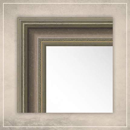 Peegel Lucas hõbedase/pronksi raamiga