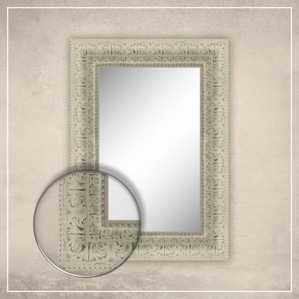 Peegel Greg valge raamiga
