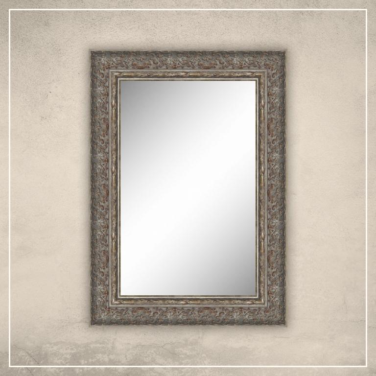 Peegel Alita halli/hõbedase raamiga