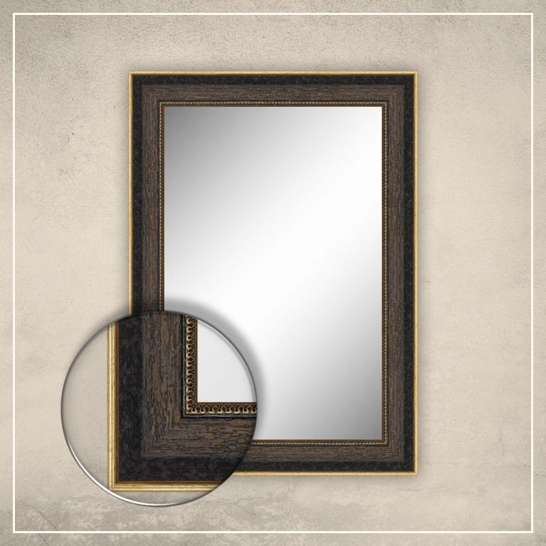 Peegel Monet pruuni/musta raamiga
