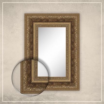 Peegel Auden kuldse raamiga