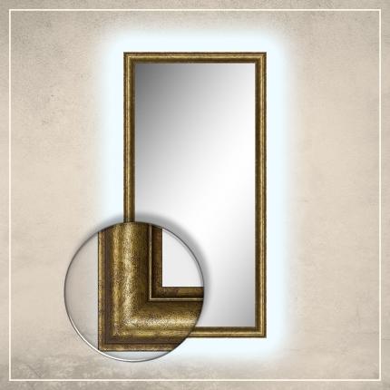 LED taustavalgusega peegel Susan kuldse raamiga