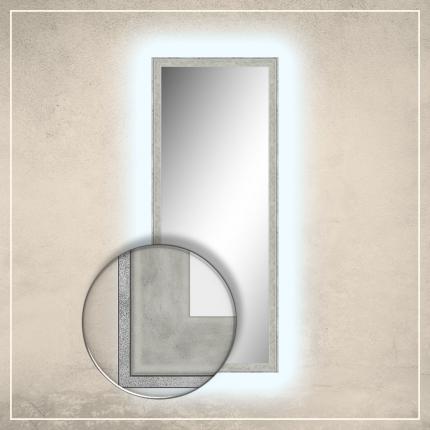 LED taustavalgusega peegel Fredi valge/halli raamiga