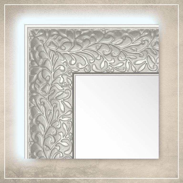 LED taustavalgusega peegel Jenny valge raamiga