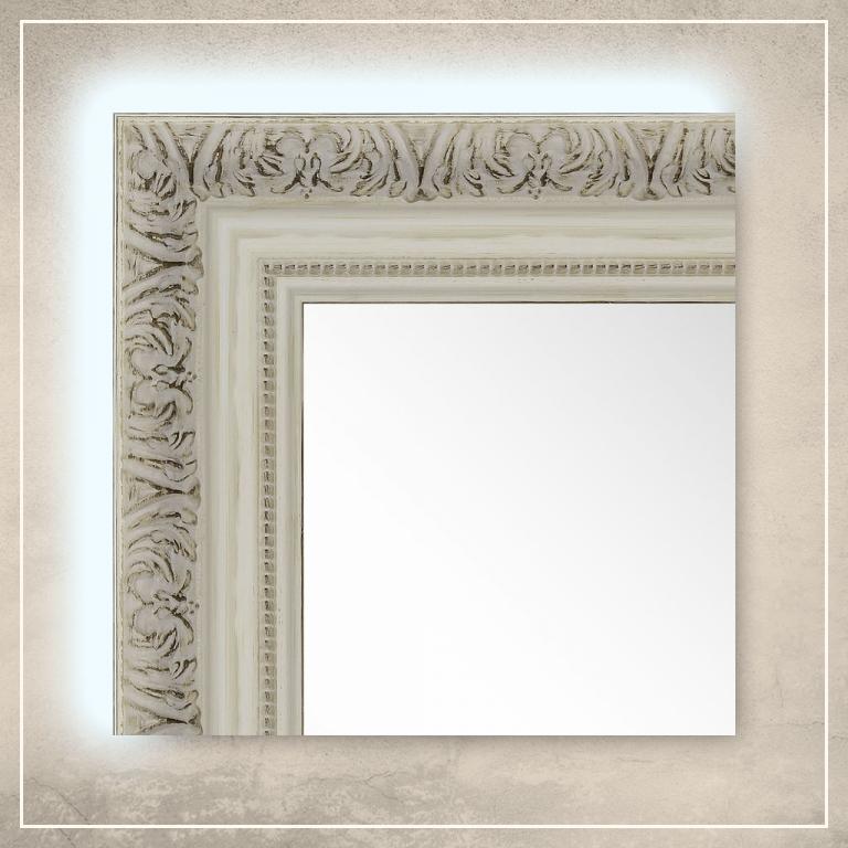LED taustavalgusega peegel Adeline valge raamiga