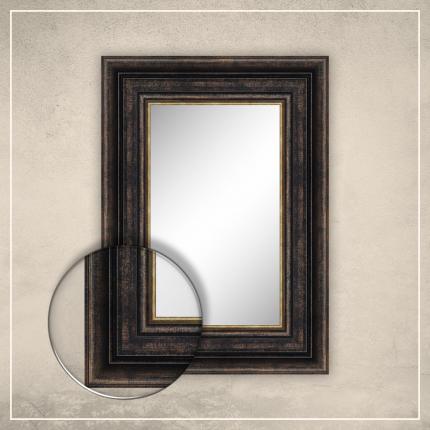 Peegel Hanna musta/kuldse raamiga