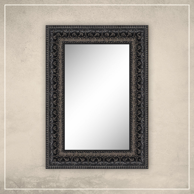 Peegel Greg musta raamiga