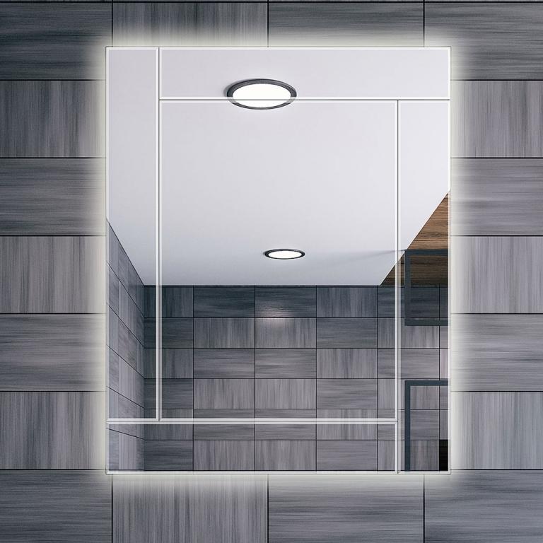 LED valgusega mosaiikpeegel Monty (80x100cm)